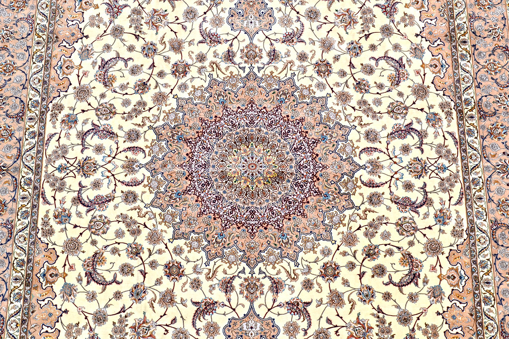 Isfahan Oversize Persian Area Rug Handwoven 12x17 silk base  (22)