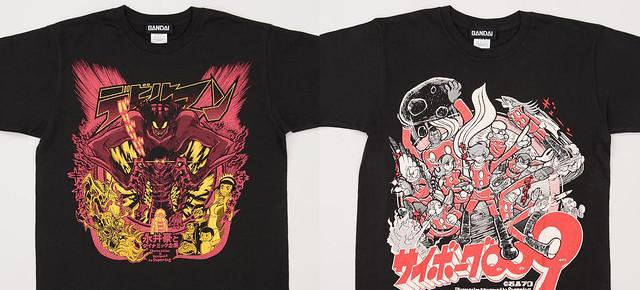 經典傑作的夢幻對決!《人造人009 VS 惡魔人》上映紀念T恤