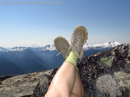 Are those hiking boots or sneakers? Some manufacturers are blurring the line between the two, if only in style. Atop Hidden Lake Lookout Peak, North Cascades National Park, Washington