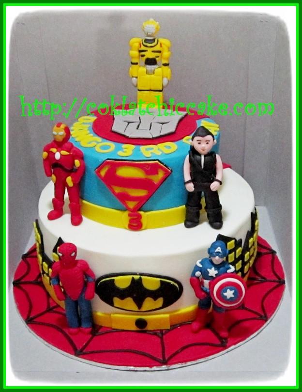 Cake Transformer Dan The Avengers Django Coklatchic Cake