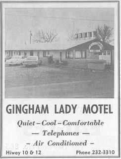 Gingham Lady Motel ad, Miles City