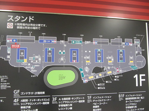 中山競馬場の1階フロアマップ