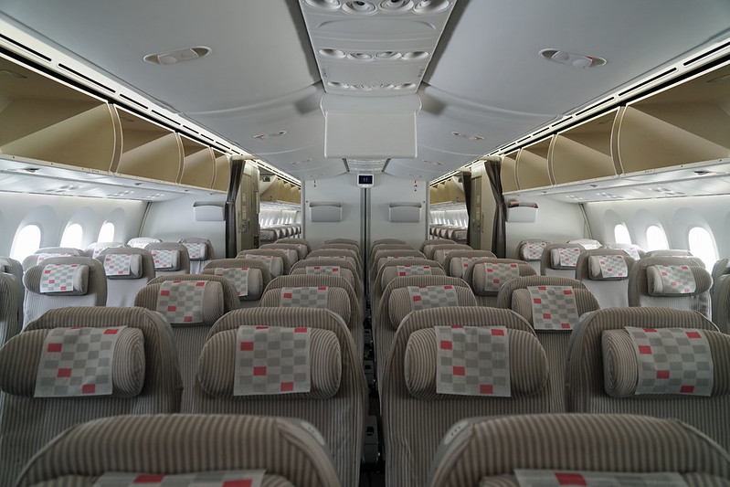 Japan Airlines' Economy Class Cabin