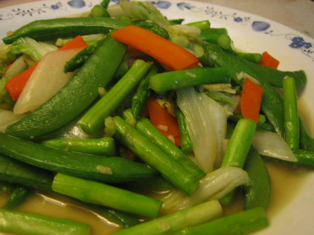 Stir fried mixed vegetables with fish sauce flickr for What vegetables go with fish