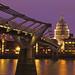 Millennium Bridge at Twilight by kayodeok