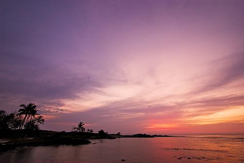sunset hawaii pôrdosol bigisland honokohau 19877