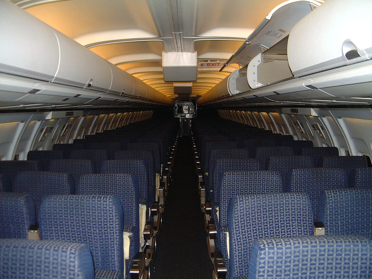 Delta Air Lines Inside An Empty Boeing 757 Airliner A