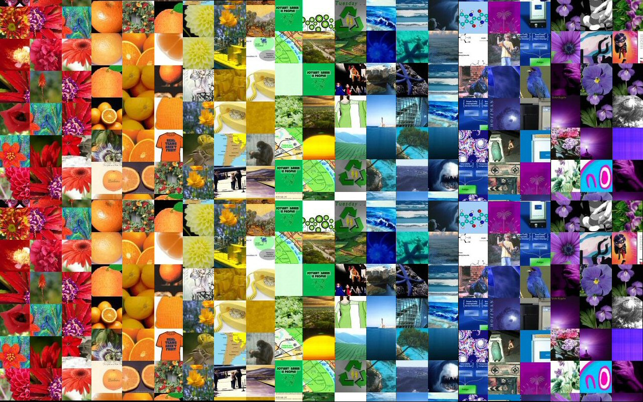 rainbow collage color perception