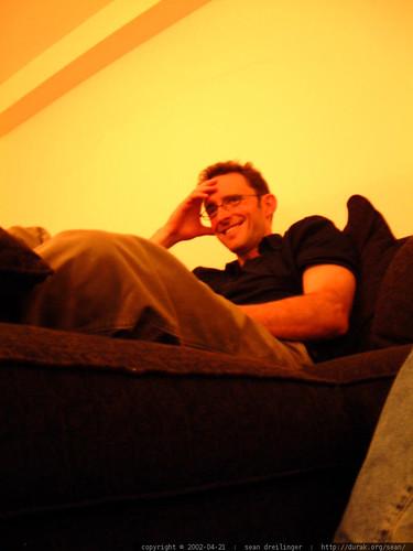 jeremy hermann watching iron chef   dscf1389