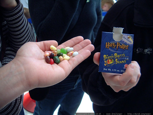 harry potter candy   sampling earwax and vomit jelly belly flavors   dscf3095