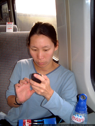 texting on the train to scotland   dscf3371