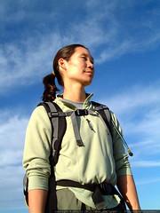 hiking under a bright blue sky   dscf3470