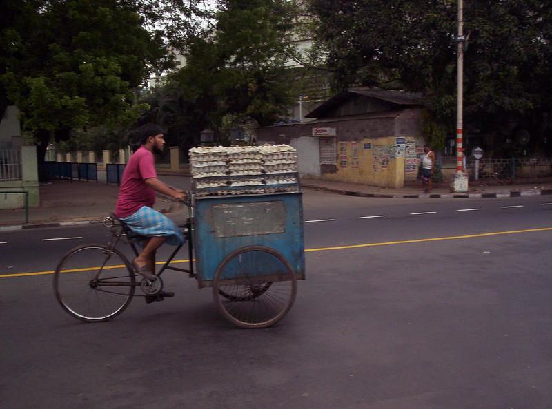 egg seller in Calcutta street