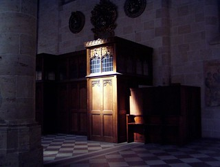 Ulm Cathedral. Confessional.