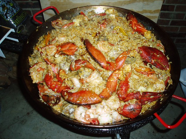 Seafood Paella with Shrimp and Scallops and Lobster Tails … | Flickr ...