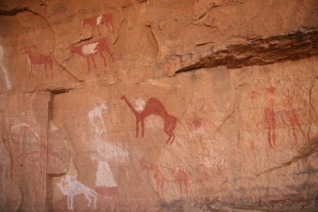 0702-Rock Art near Awanini, Jebel Acacus, Libyan Sahara-20060407