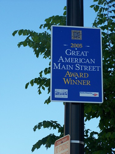 Barracks Row, Great American Main Street sign