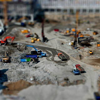 Construction site miniature