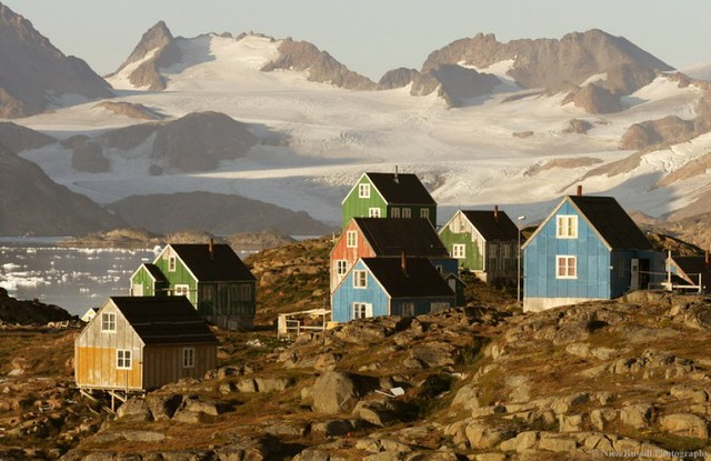 greenland mountain village
