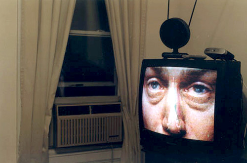the tv has eyes