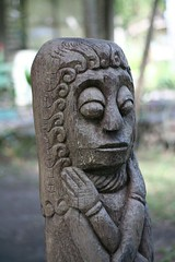carving, art, temple, wood, sculpture, close-up, tiki,