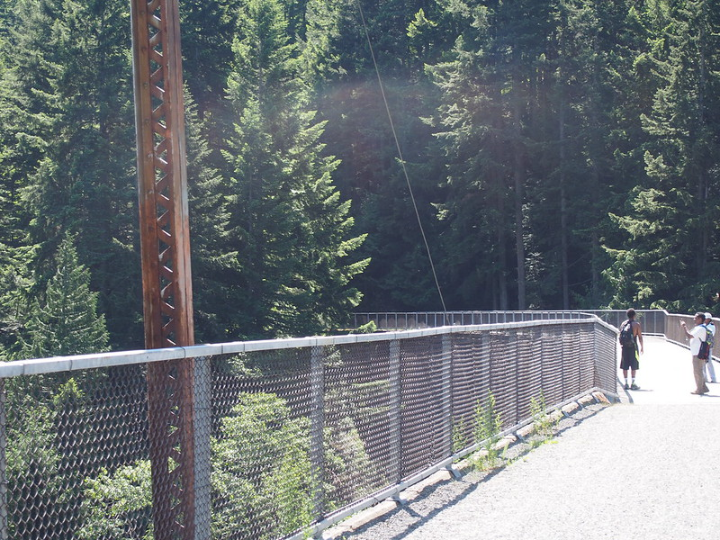John Wayne Pioneer Trail Trestle: These tourists asked me to take photos of them.
