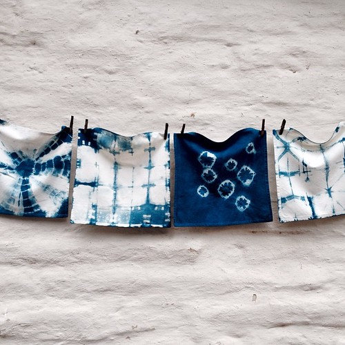 Fun with the indigo vat #dyeing #indigo #shibori