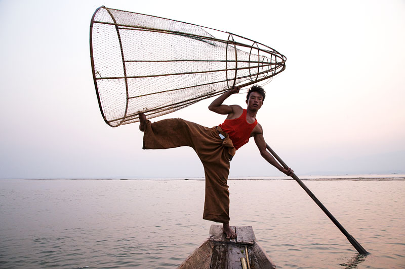 Fisherman - Inle Lake, Myanmar