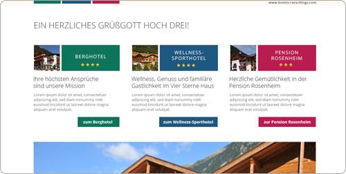 Homepage Gestaltung, Webdesign