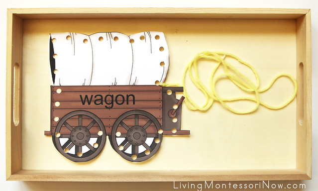 Covered Wagon Lacing