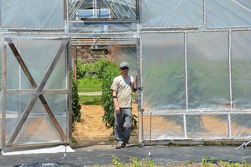 Josh Carter, the market garden manager at Shelburne Farms