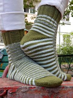 носки от мыска полосатые Гусеница