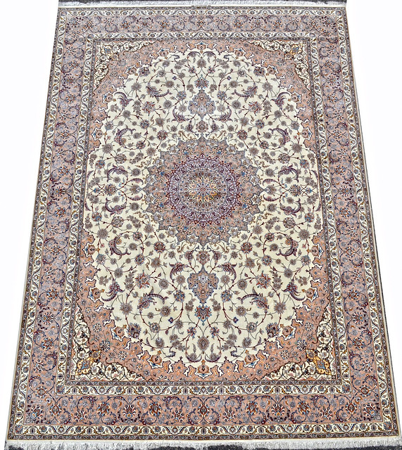 Isfahan Oversize Persian Area Rug Handwoven 12x17 silk base  (1)