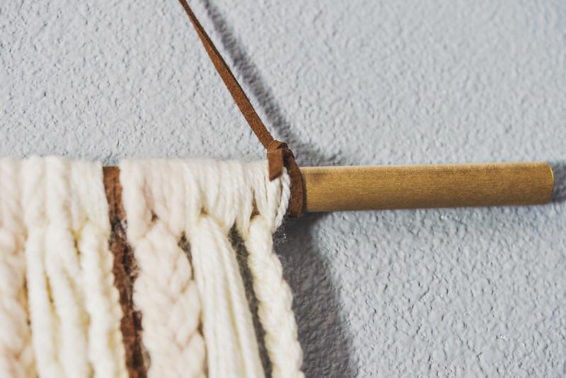 diy yarn wall hanging tutorial bohemian