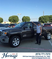 Congratulations to Wayne Clark on your #GMC #Sierra 1500 from Jeffery Clifton at Heritage Buick GMC! #NewCar