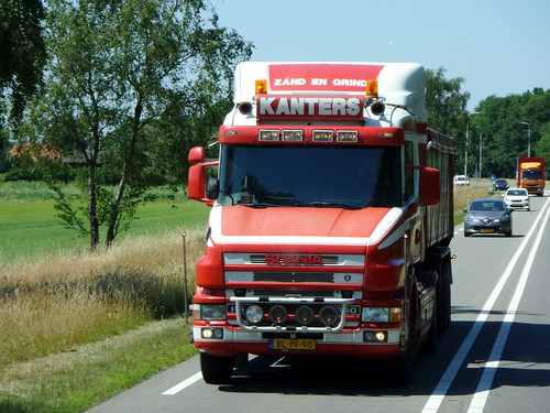 Scania 114G-380 tipper from Kanters Holland