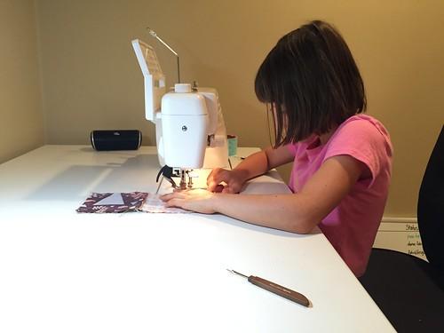 Sewing away