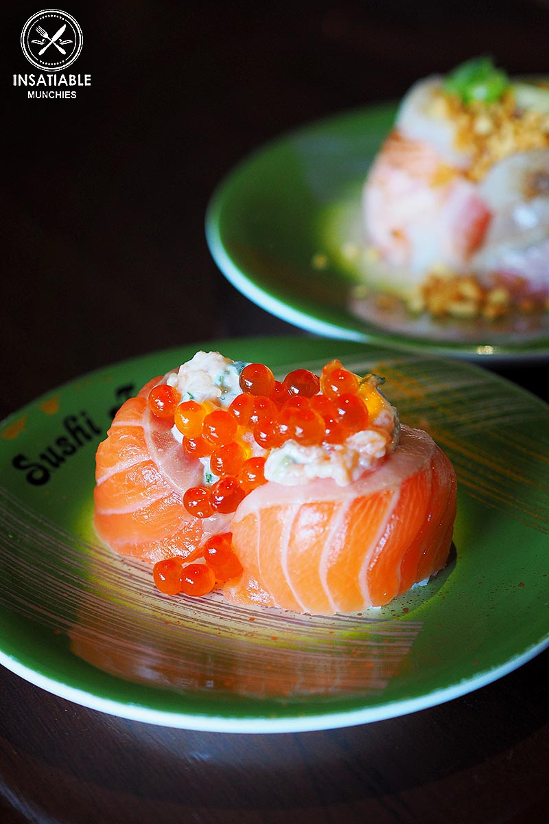 Sydney Food Blog Review of Sushi Train, Neutral Bay: Salmon and Salmon Roe