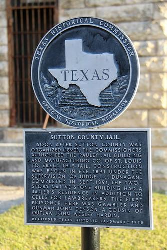 historicjail countyjail suttoncountyjail sonora suttoncounty texas recordedtexashistoriclandmark rthl historicmarker historicalmarker texashistoricalmarker