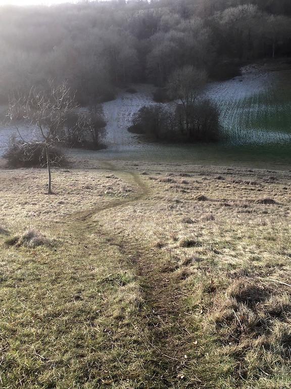 Frosty valley Knockholt to Otford walk