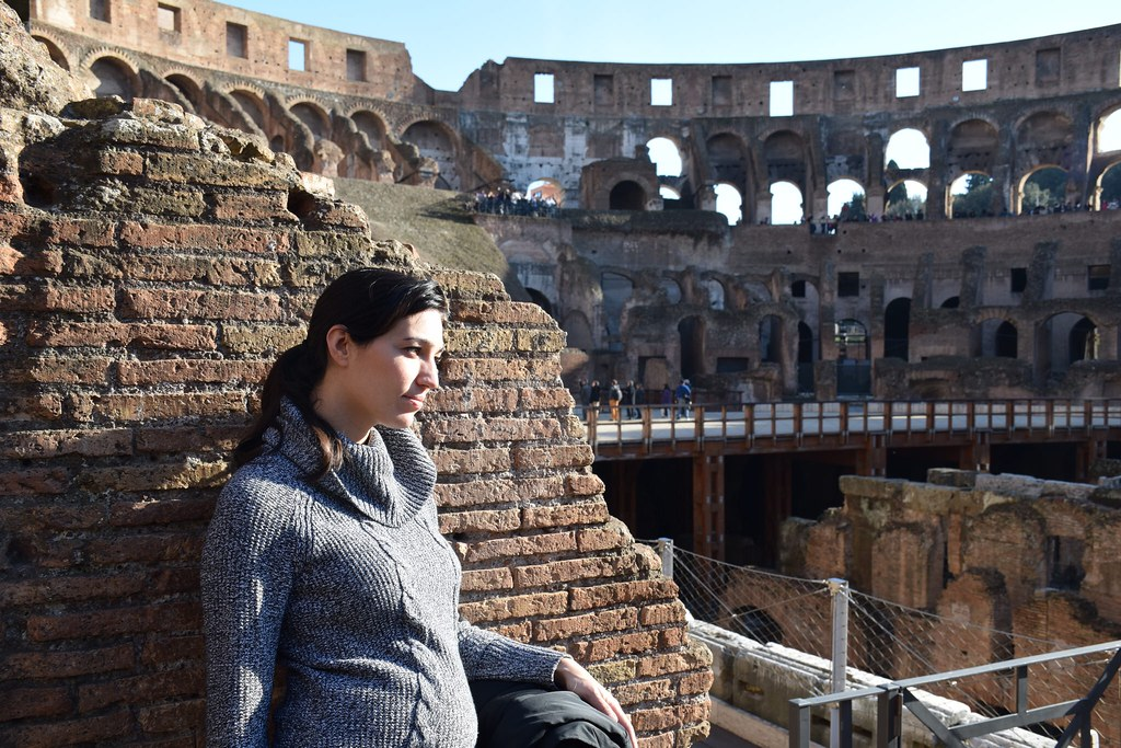 En el Coliseo, Roma, hace tres semanas.
