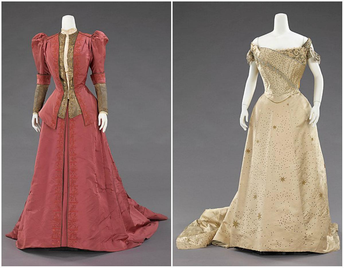 1900 & 1905. Silk, rhinsetones, metal. metmuseum
