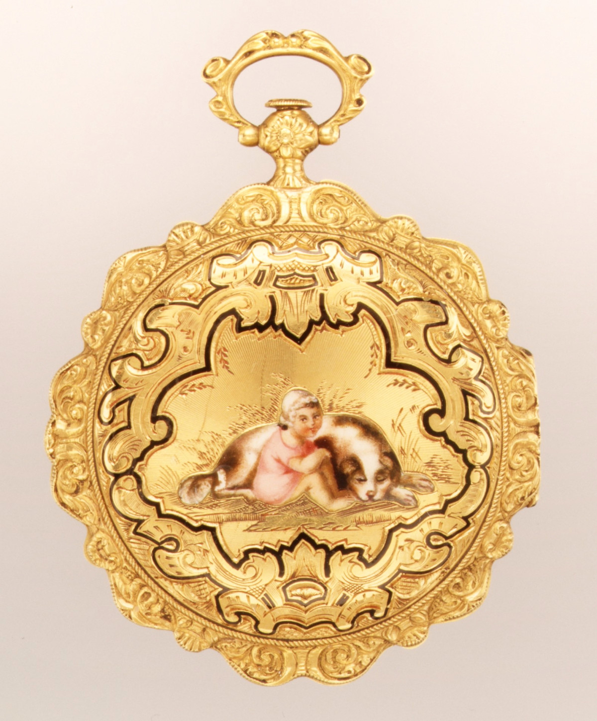 1835. Watch. Swiss, Geneva. Gold, enamel, silver. metmuseum