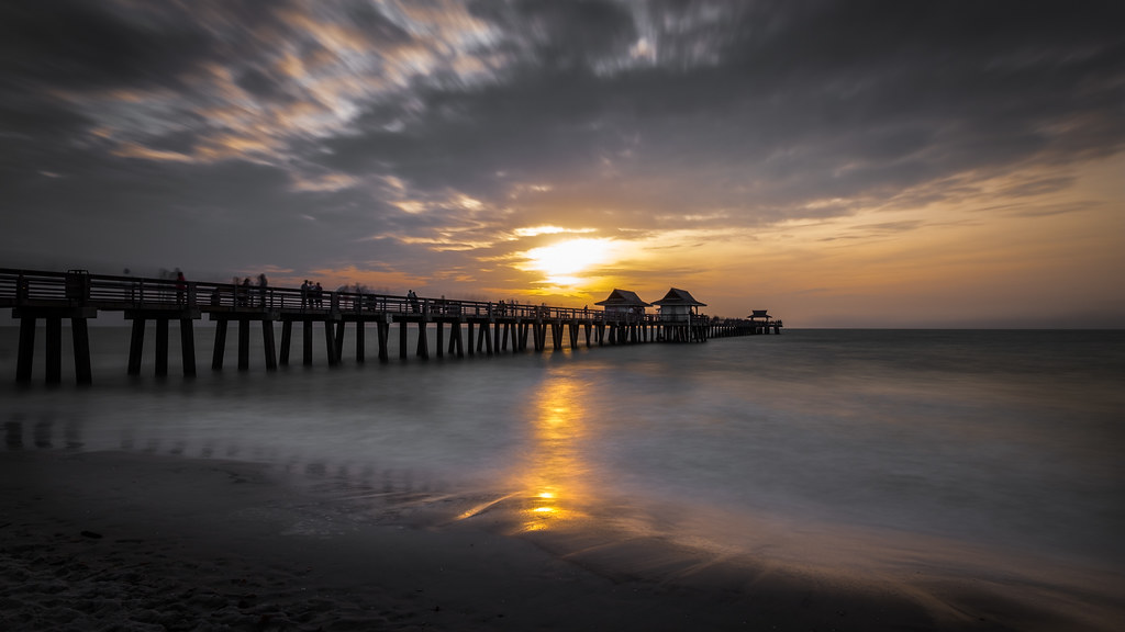 Naples pier at sunset, Florida, United States picture