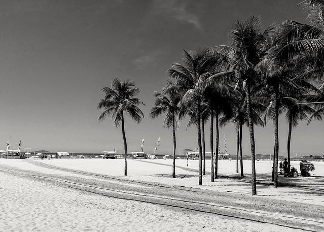 verão em preto e branco