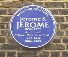 Photo of Jerome K. Jerome blue plaque