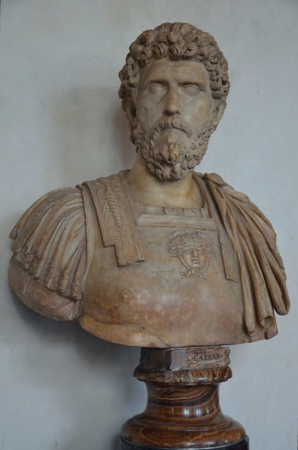 Lucius Aelius Caesar, intended successor of Hadrian who died prematurely, 2nd century AD, Galleria degli Uffizi, Florence