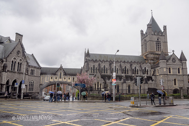 Dublinia on the left and Christ Church Cathedral on the right