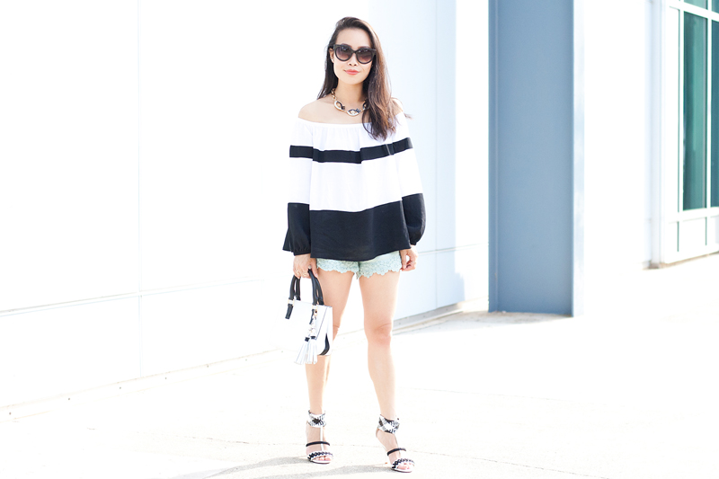 01-black-white-stripes-off-shoulder-denim-heels-sf-sanfrancisco-fashion-style