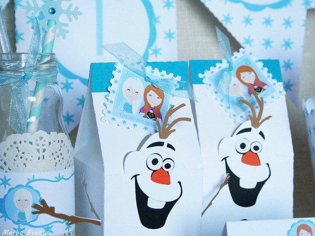 cajitas dulces  Olaf cumpleaños Frozen